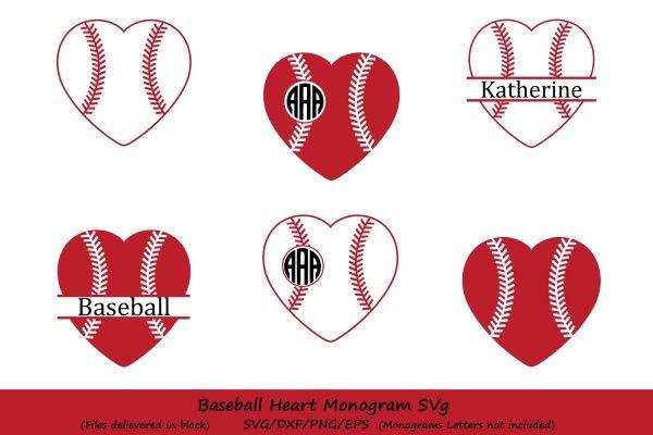 Baseball Heart Svg Baseb Design Bundles