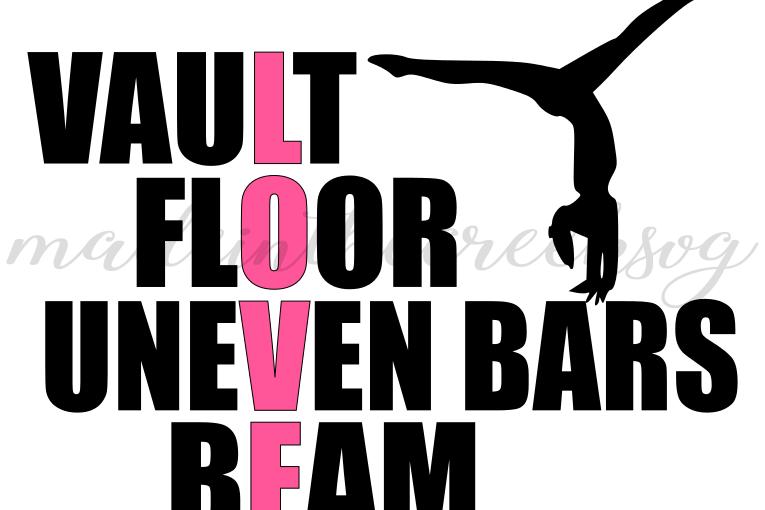 Download Gymnastics, Love, Sports, Beam, Vault, | Design Bundles