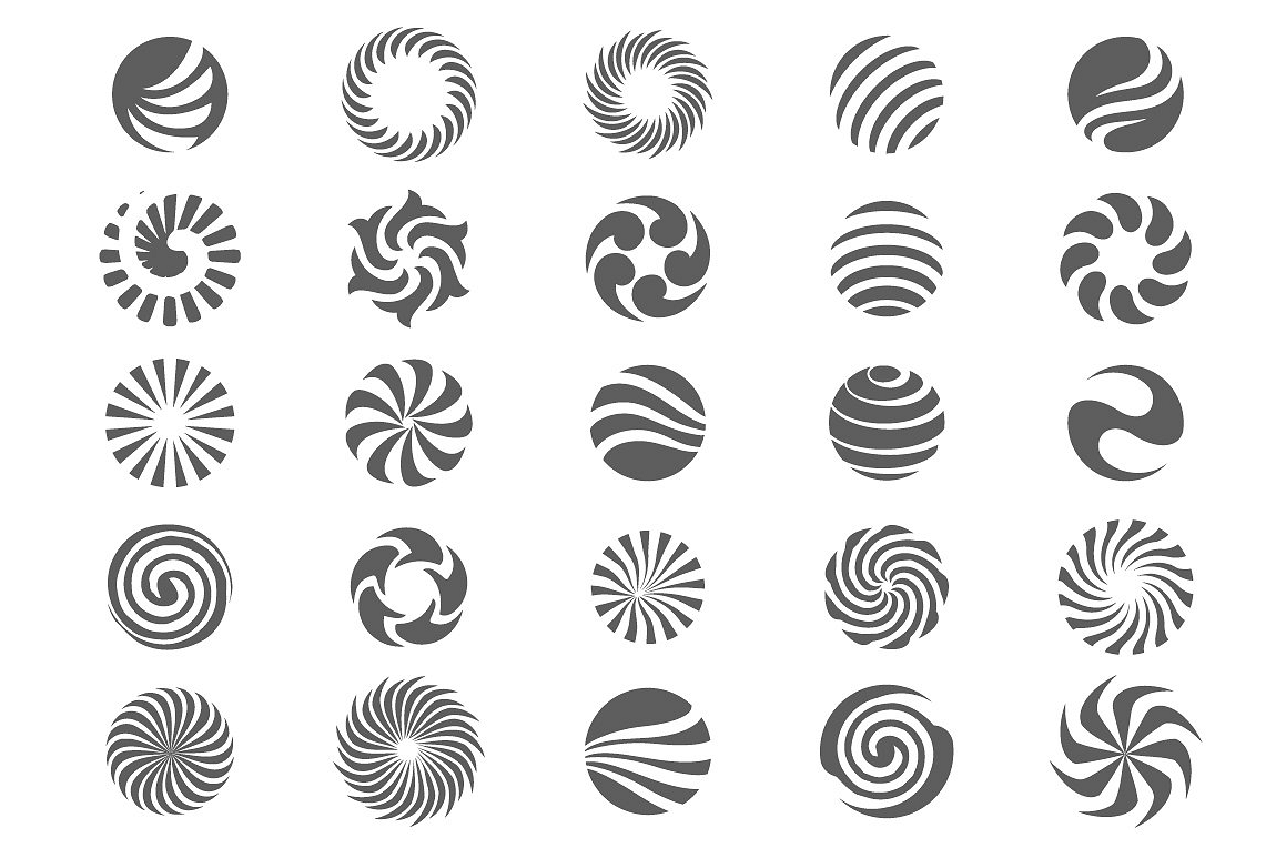 25 Abstract Circle Symbols By Alicenoir