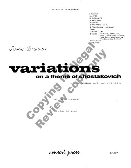 Variations On A Theme Of Shostakovich (Orchestra & Piano