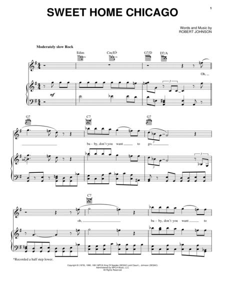 Do you remember digging in that delic. Sweet Home Chicago By The Blues Brothers Robert Johnson Digital Sheet Music For Piano Vocal Guitar Download Print Hx 6569 Sheet Music Plus