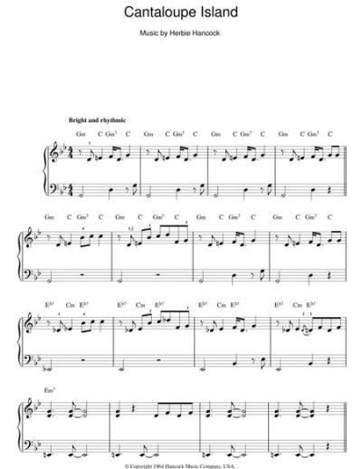 Download Cantaloupe Island Sheet Music By Herbie Hancock ...