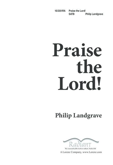 Download Praise The Lord Sheet Music By Phillip Landgrave