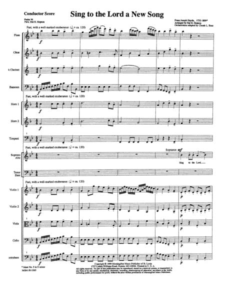 Download Sing To The Lord A New Song (Orchestral Score) Sheet Music By Franz Joseph Haydn - Sheet Music Plus