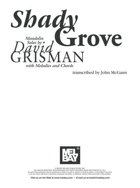 Shady Grove: Mandolin Solos By David Grisman By David