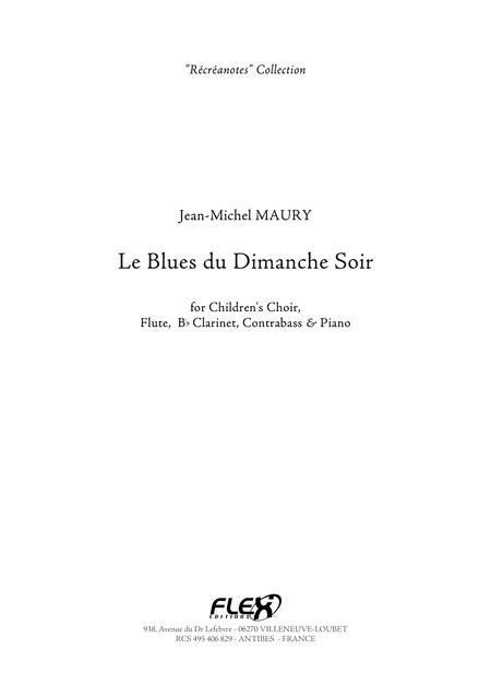 Le Blues Du Dimanche Soir : blues, dimanche, Blues, Dimanche, Jean-Michel, Maury, Digital, Sheet, Music, Score, Parts, Download, Print, FX.FX071634