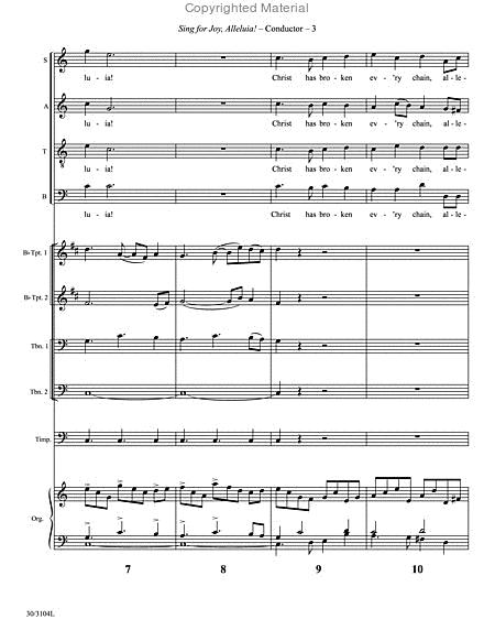 Sing For Joy. Alleluia! - Brass And Percussion Score And Parts By Jonathan Willcocks - Score And Parts Sheet Music For Timpani. 2 Trumpets. 2 ...