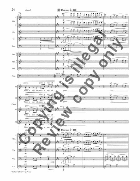 The Tree Of Peace (SSAA Orchestral Score) By Gwyneth W