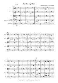 Scarborough Fair For String Quartet By Traditional - Digital Sheet Music For Violin.Viola.Cello (Download & Print S0.19592 From David Burndrett ...