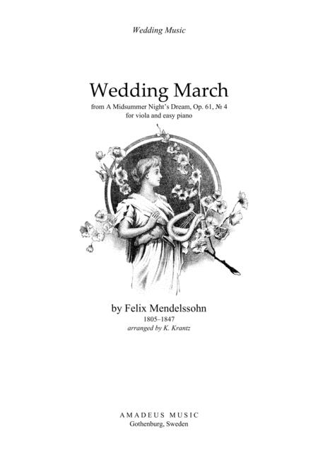 Wedding March For Viola And Piano By F. Mendelssohn (1809