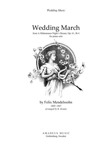 Wedding March For Piano Solo By F. Mendelssohn (1809-47