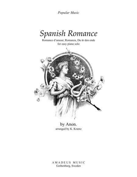 Download Spanish Romance / Romance Anonimo For Easy Piano
