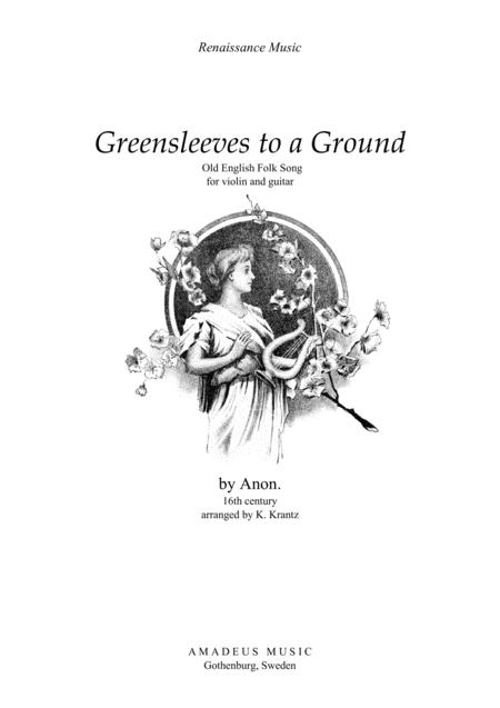 Download Greensleeves Variations For Violin And Guitar