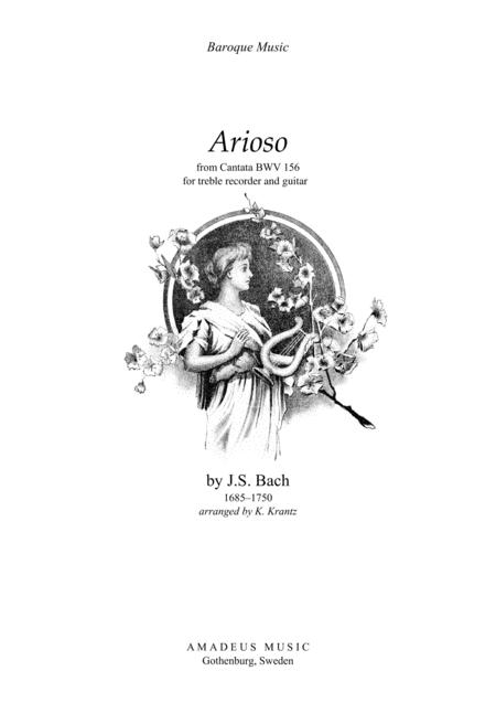 Download Arioso From Cantata 156 For Treble Recorder And