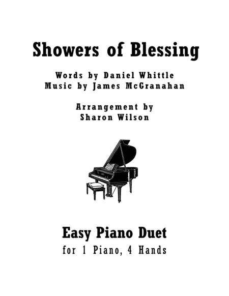 Download Showers Of Blessing (Easy Piano Duet; 1 Piano, 4