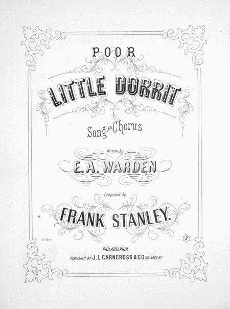 Download Poor Little Dorrit. Song And Chorus Sheet Music