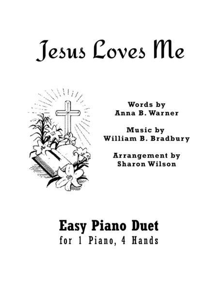 Download Jesus Loves Me (Easy Piano Duet; 1 Piano, 4 Hands