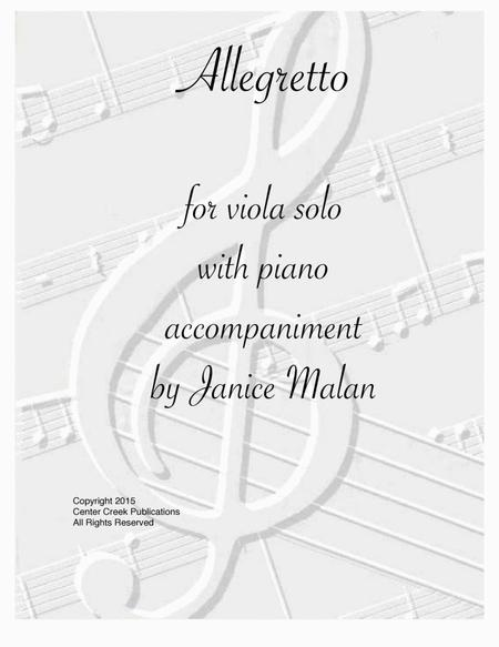 Allegretto For Viola Solo With Piano Accompaniment By