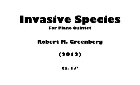 Download Invasive Species For Piano Quintet Sheet Music By