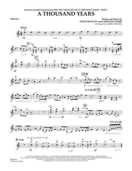 A Thousand Years Christina Perri Mp3 : thousand, years, christina, perri, Thousand, Years, Violin, Christina, Perri, Digital, Sheet, Music, Orchestra, Download, Print, HX.316177