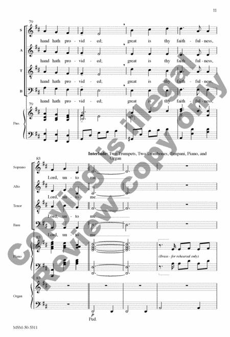 Great Is Thy Faithfulness (Choral Score) By William Runyan