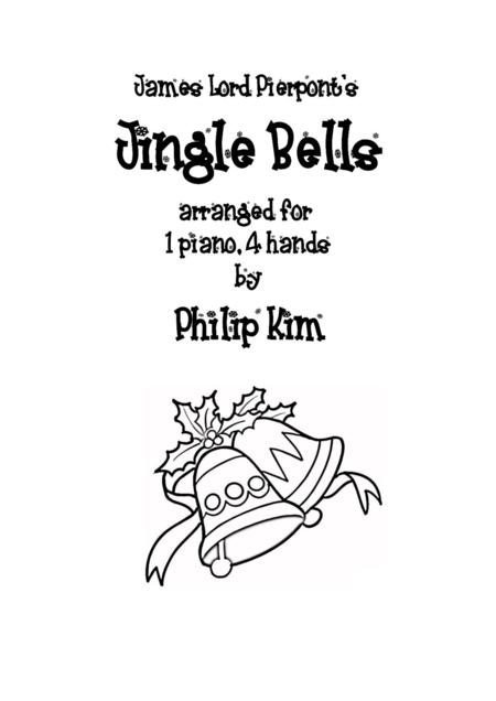 Download Jingle Bells 1 Piano 4 Hands Sheet Music By