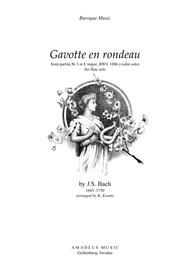 Download Gavotte En Rondeau BWV 1006 For Flute Solo Sheet
