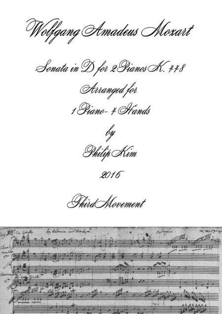 Mozart Sonata In D, K. 448 For 2 Pianos (3rd Movement