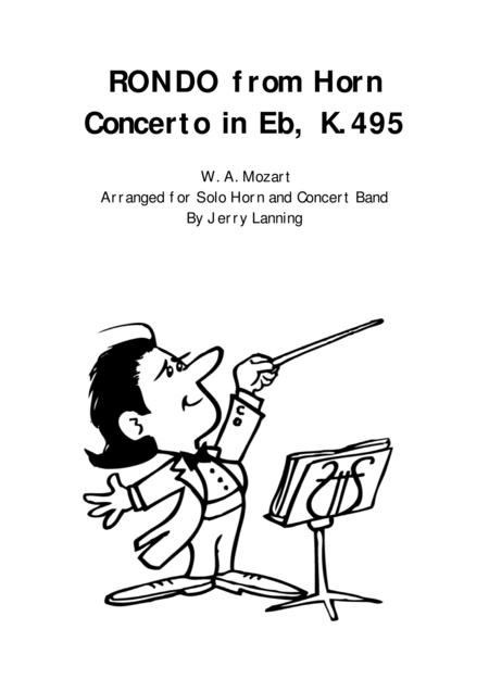Download RONDO From Horn Concerto K.495, Solo Horn And