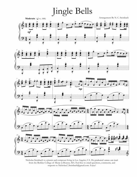 Jingle Bells Piano Notes In Numbers : jingle, bells, piano, notes, numbers, Jingle, Bells, Piano, James, Pierpont, (1822-1893), Digital, Sheet, Music, Individual, Part,Piano, Reduction,Solo, Download, Print, S0.166597