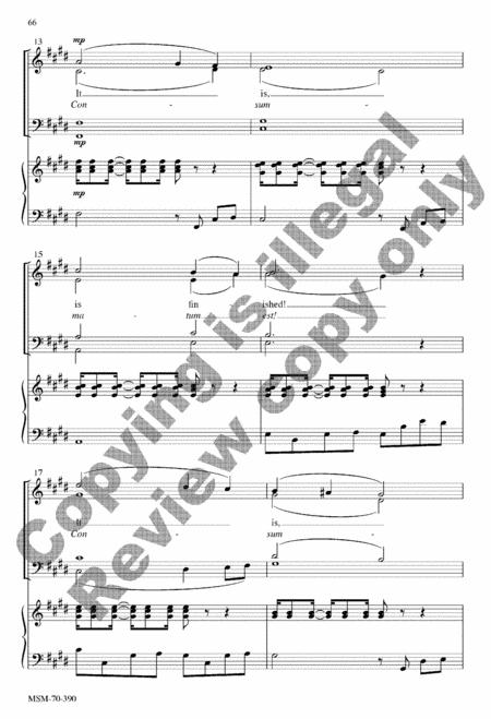 Seven Last Words (Septem Ultima Verba) (Choral Score) By