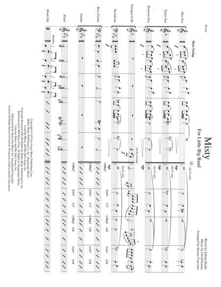Download Misty For Jazz Combo Sheet Music By Erroll Garner