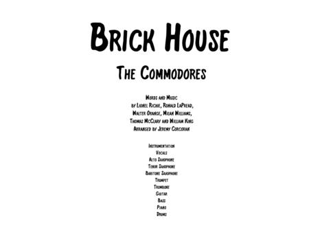 Brick House For Rock Band With Horns By The Commodores