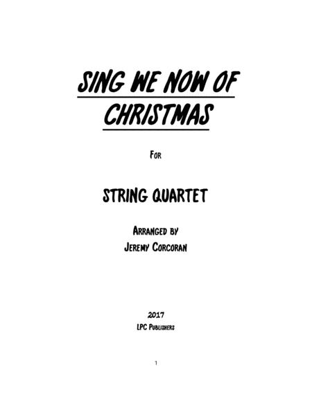 Preview Sing We Now Of Christmas For String Quartet By