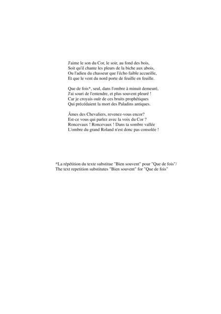 J'aime Le Son Du Cor Le Soir Au Fond Des Bois : j'aime, Flégier:, Piano, Flégier, Digital, Sheet, Music, Score,Solo, Download, Print, S0.262805