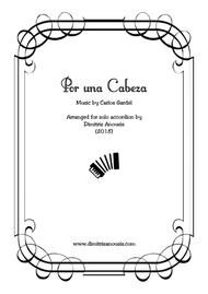 Por Una Cabeza For Solo Accordion By Carlos Gardel