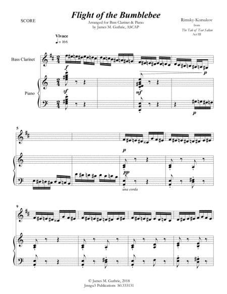 Flight Of The Bumblebee Clarinet Sheet Music : flight, bumblebee, clarinet, sheet, music, Korsakov:, Flight, Bumblebee, Clarinet, &, Piano, Nikolay, Andreyevich, Rimsky-Korsakov, (1844-1908), Digital, Sheet, Music, Score,Set, Parts, Download, Print, S0.333131