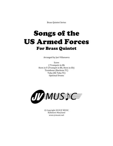 Songs Of The US Armed Forces For Brass Quintet By Various