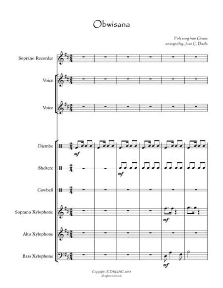 Obwisana : obwisana, Obwisana, Ensemble), Ghana, Digital, Sheet, Music, Score,Set, Parts, Download, Print, S0.369095