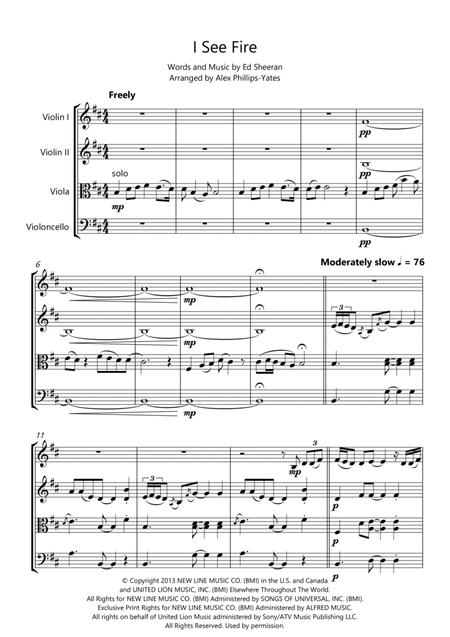 Download I See Fire By Ed Sheeran (from
