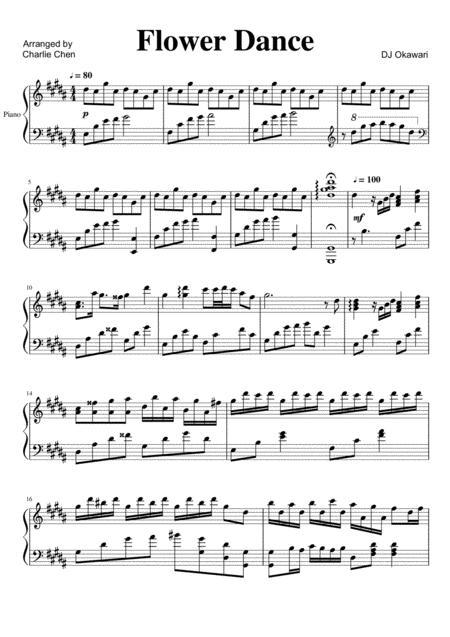 Flower Dance Sheet Music : flower, dance, sheet, music, Flower, Dance, Okawari, Digital, Sheet, Music, Download, Print, S0.491411