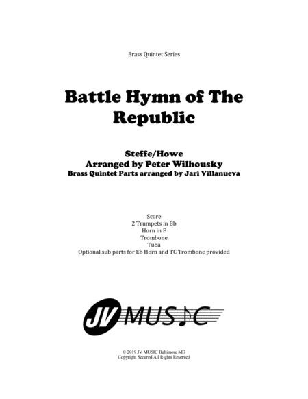 Battle Hymn Of The Republic Brass Quintet Parts By William