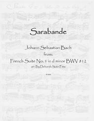 Download Sarabande From The French Suite No. 1 In D Minor