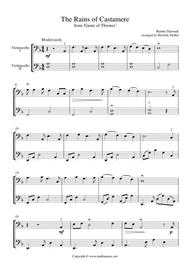 The Rains Of Castamere (cello Duet) By Ramin Djawadi - Digital Sheet Music For Cello.String Duet (Download & Print S0.545554 From Michelle Mullin ...