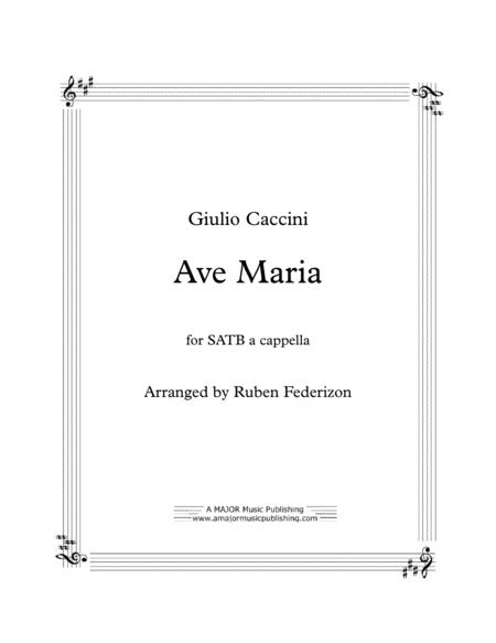 Download Ave Maria (Giulio Caccini) Sheet Music By Giulio