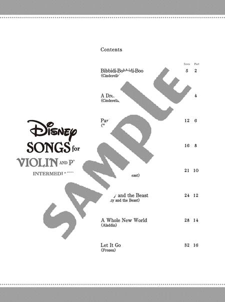 Disney Songs For Violin And Piano/English Version By