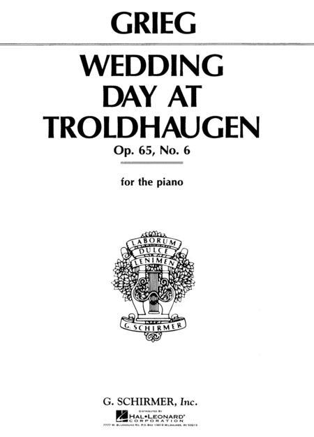 Wedding Day At Troldhaugen Sheet Music By Edvard Grieg