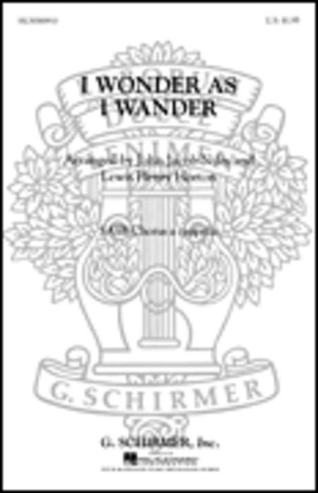 I Wonder As I Wander Sheet Music By John Jacob Niles