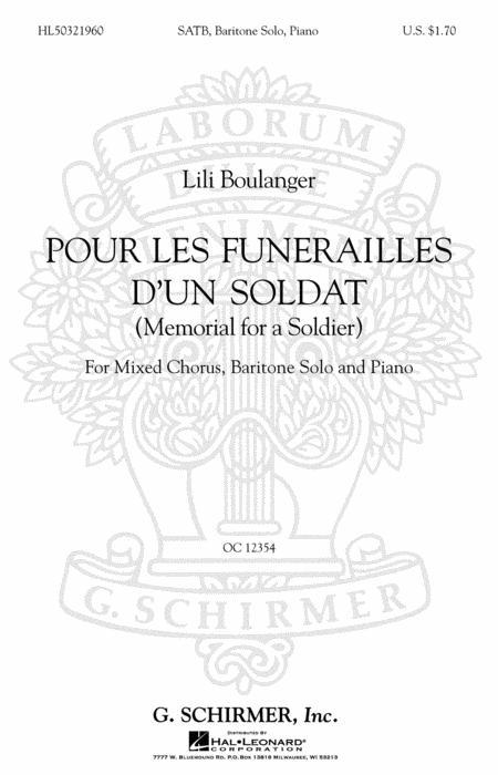 Pour Les Funerailles D'Un Soldat (Memorial For A Soldier