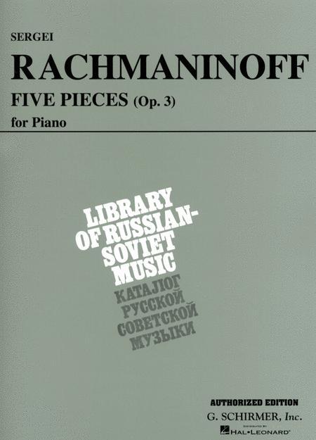 5 Pieces, Op. 3 (VAAP Edition) By Sergei Rachmaninoff